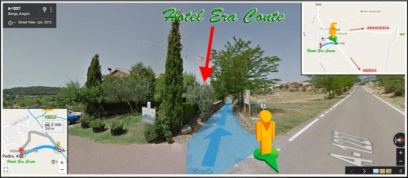 COMO IR A hotel era conte de Bierge, en el Somontano de Huesca